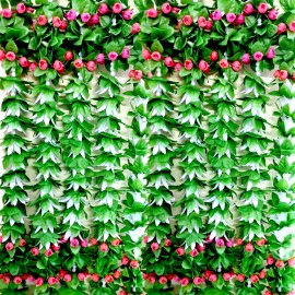 Decorative Artifical Flowers Green Colour  (76 Inchs)