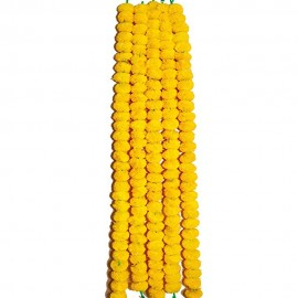 Decorative Artifical Yellow Marigold Garland (58 Inchs)