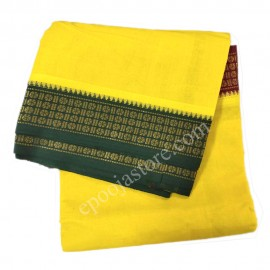 Cotton Dhothi Yellow Colour (9*5)