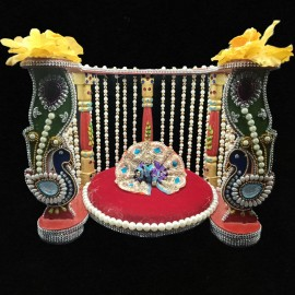 Decorated Pearl Simhasanam
