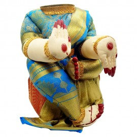 Ammavari Idol (Blue Colour with Kaddi Border) (10 Inchs)