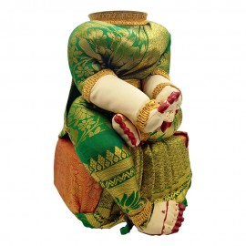 Ammavari Idol (Green Colour with Kaddi Border) (10 Inchs)