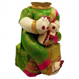 Ammavari Idol (Green Colour with Pink Border) (10 Inchs)