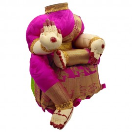 Ammavari Idol (Pink Colour with Kaddi Border) (10 Inchs)
