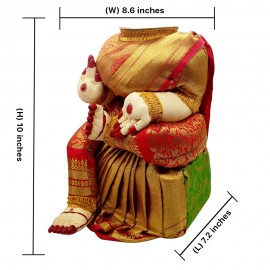 Ammavari Idol (Red Colour) (10 Inchs)