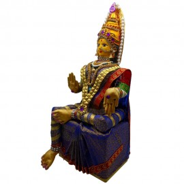 Varalakshmi Devi Idol Set (Violet Colour)