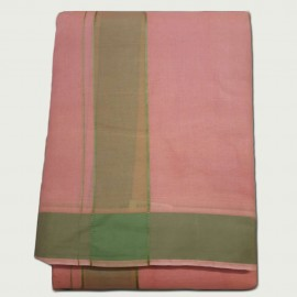 Cotton Dhothi (Coral Colour) (9*5)