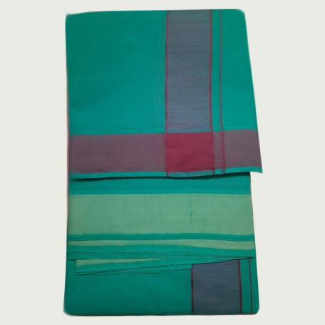 Cotton Dhothi (Green Colour) (9*5)