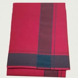 Cotton Dhothi (Red Colour) (9*5)