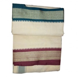 Sandal Colour Cotton Dhoti  ( 9*5)