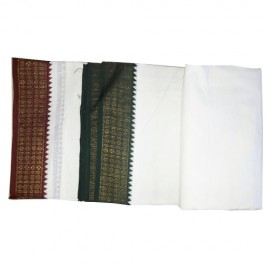 White Cotton Dhoti ( 9 * 5)