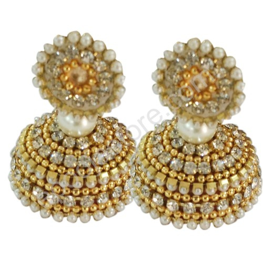 Thread With Stones Ear Tops