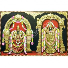 Venkateswara Swamy Photo Frame with Tanjavur Design
