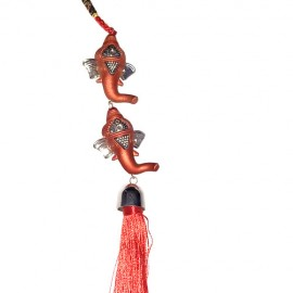 Ganesha Car Hanging (Red)