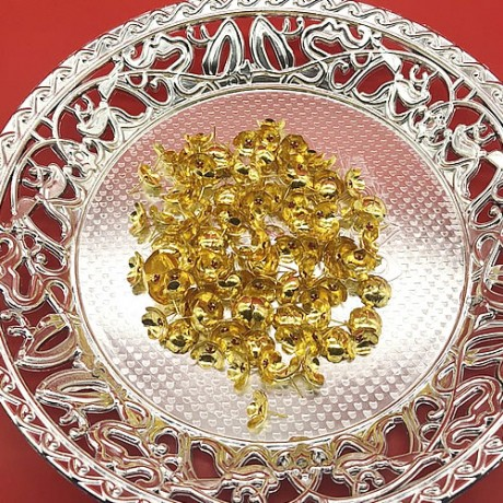 Silver Ashtothram Flowers with Gold Coated (108 Pcs)