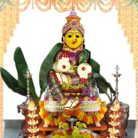 Varalakshmi Idol (Blue-violet Colour)