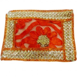 God Asanas Small(orange with gold Border)