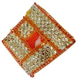 God Asanas Small(orange with gold Border)