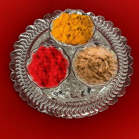 Decorative Pooja Thali Set