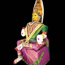 Varalakshmidevi Idol Set (Pink Colour)