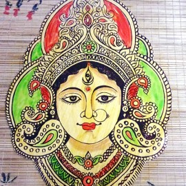 Durga Devi(Bamboo Photo Frame)