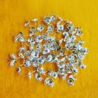 Silver Coated Flowers For Lakshmi Devi Pooja (108 Flowers)