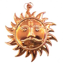 Surya Deva Wall Hanging ( Copper)