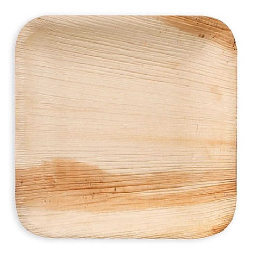 Eco-Friendly Palm Plates ( Square Shape) (20 Pieces)