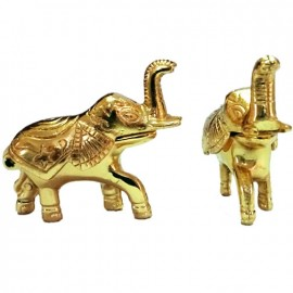 Decorative and Designed Kumkuma Bharani (Elephant)  (2 Pieces)