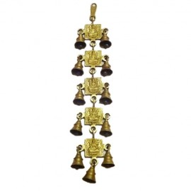 Wall Hanging of Lakshmi Devi with 11 Bells