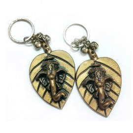 Ganesha with Leaf Key Chain