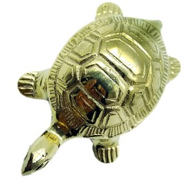 Pure Brass Vastu Fengshui Tortoise With Plate For Good Luck (Big)