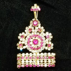 Mukut for God/Godess (Pink & White Stones)