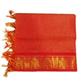 Namo Border Zari Shawl (Red Pink)
