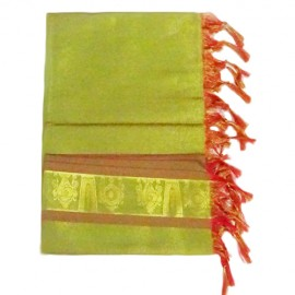 Namo Border Zari Shawl (Green)