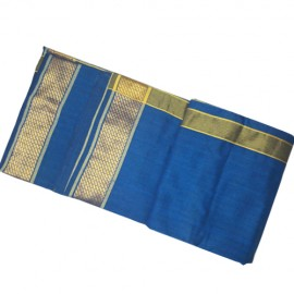 Blue Cotton Dhoti ( 9 * 5)