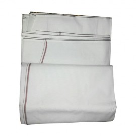 White Colour Dhoti  With Out Uttariyam ( Pack of 2)
