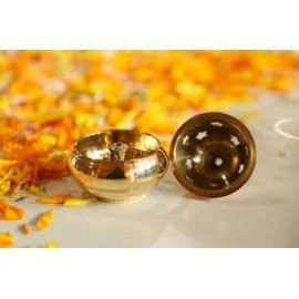 Apple Diya (Brass)  (Small)