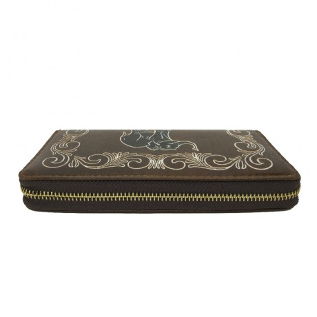 PU Leather Brown Wallet